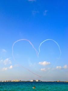 Aviators show their skills over Palm Jumeirah