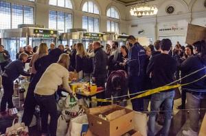 Flyktingar från Syrien anländer med tåg via Danmark och Malmö i september 2015.