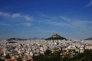 Vy över Aten Foto: Amanda Seebass