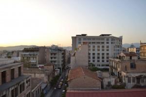 Utsikt från syrizas balkong Foto: Rebecca Eliasson