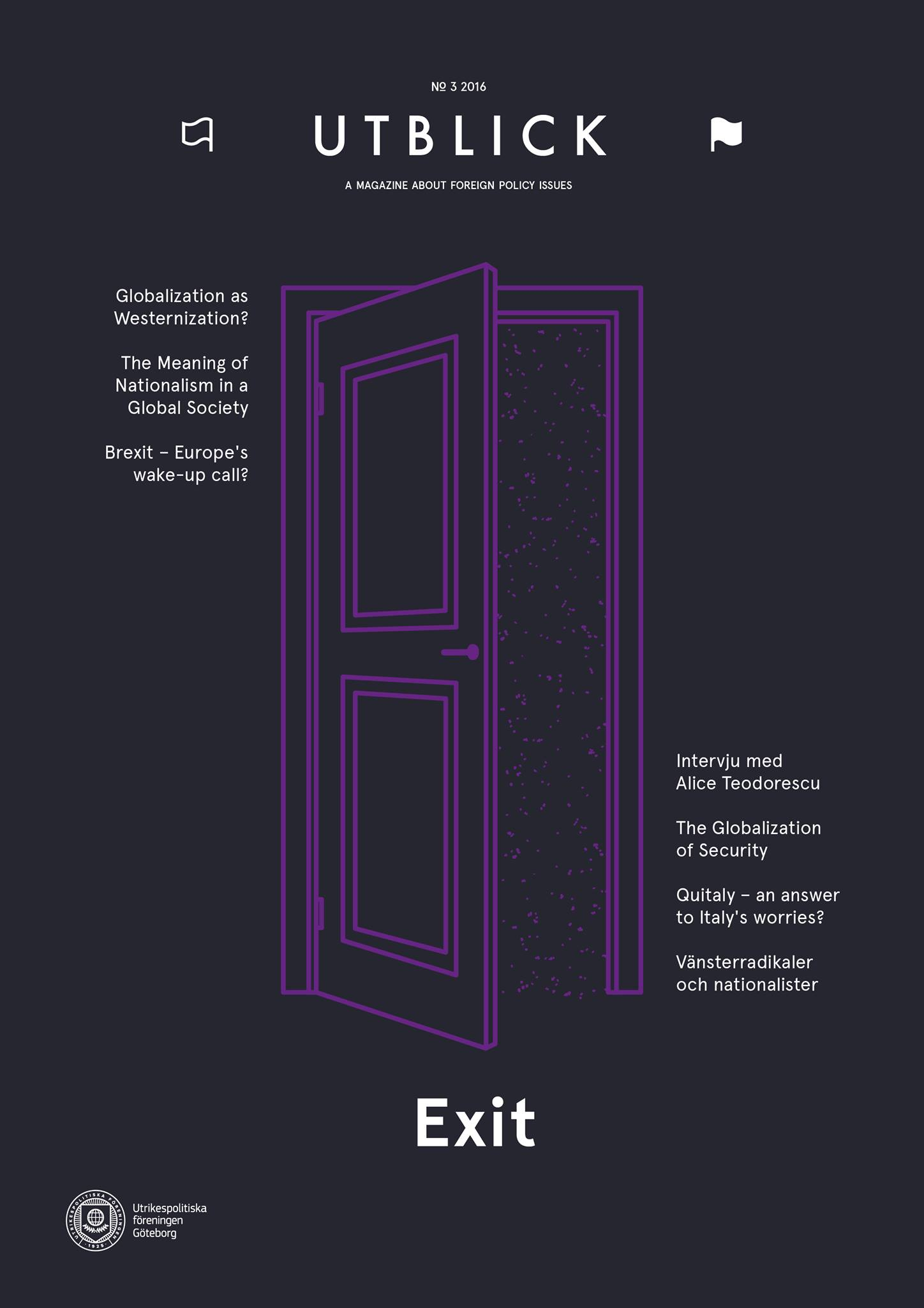 New Issue of Utblick: Exit